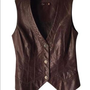 Paige Aiden Leather Vest